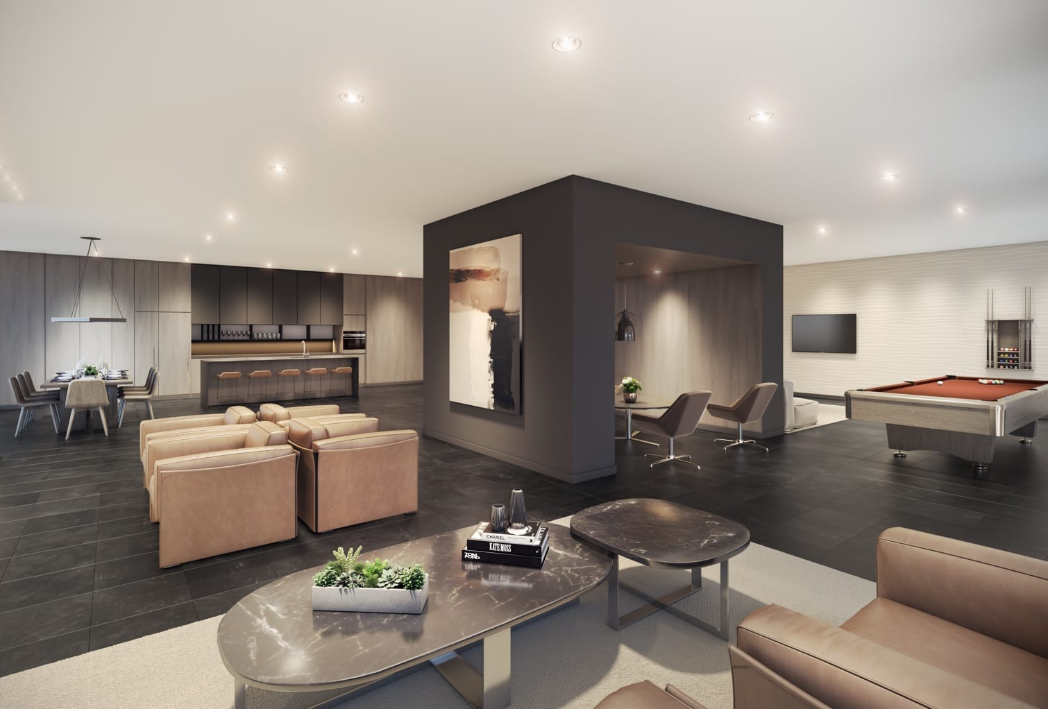 Amenity and party room in new condo