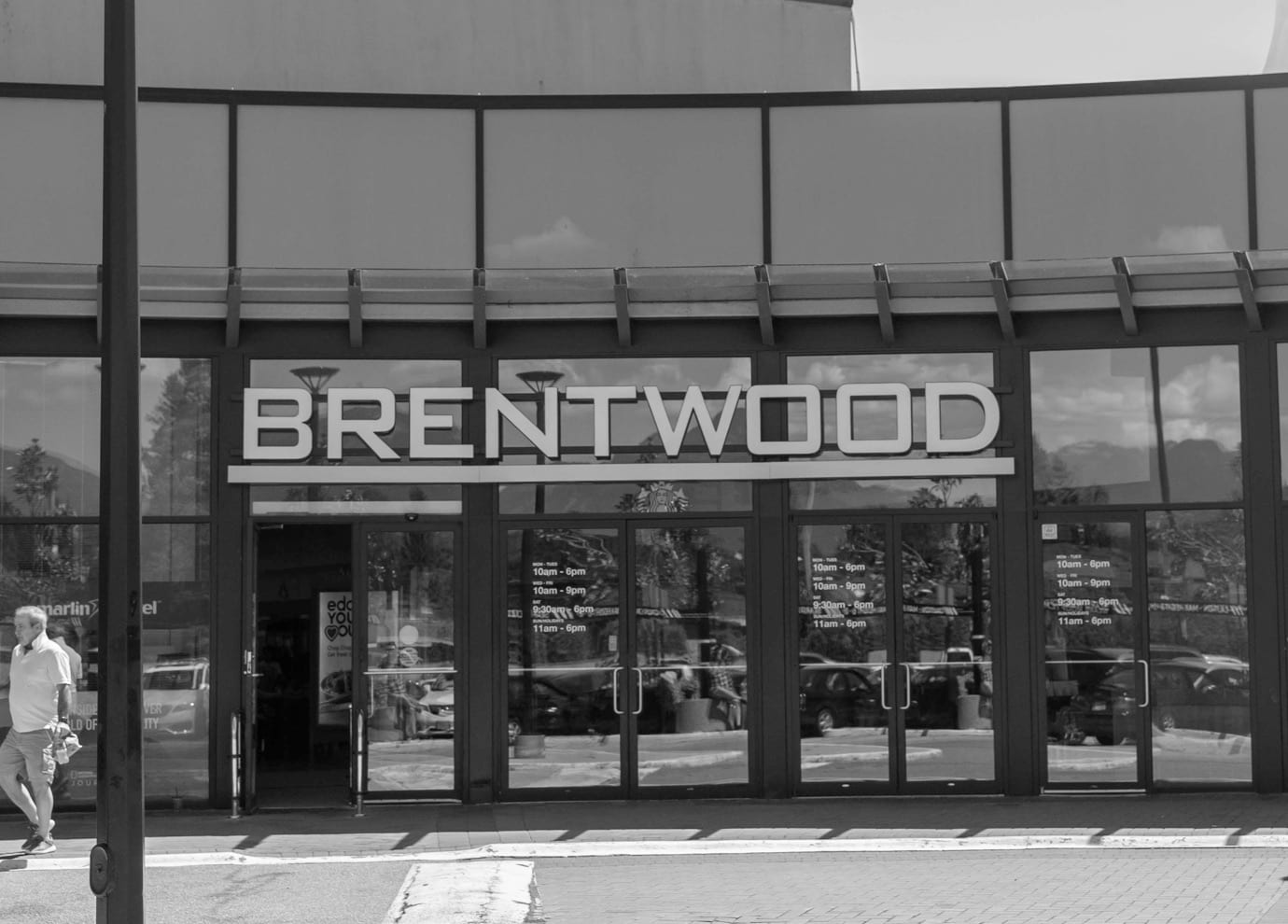 The entrance to Brentwood Town Centre in Burnaby.