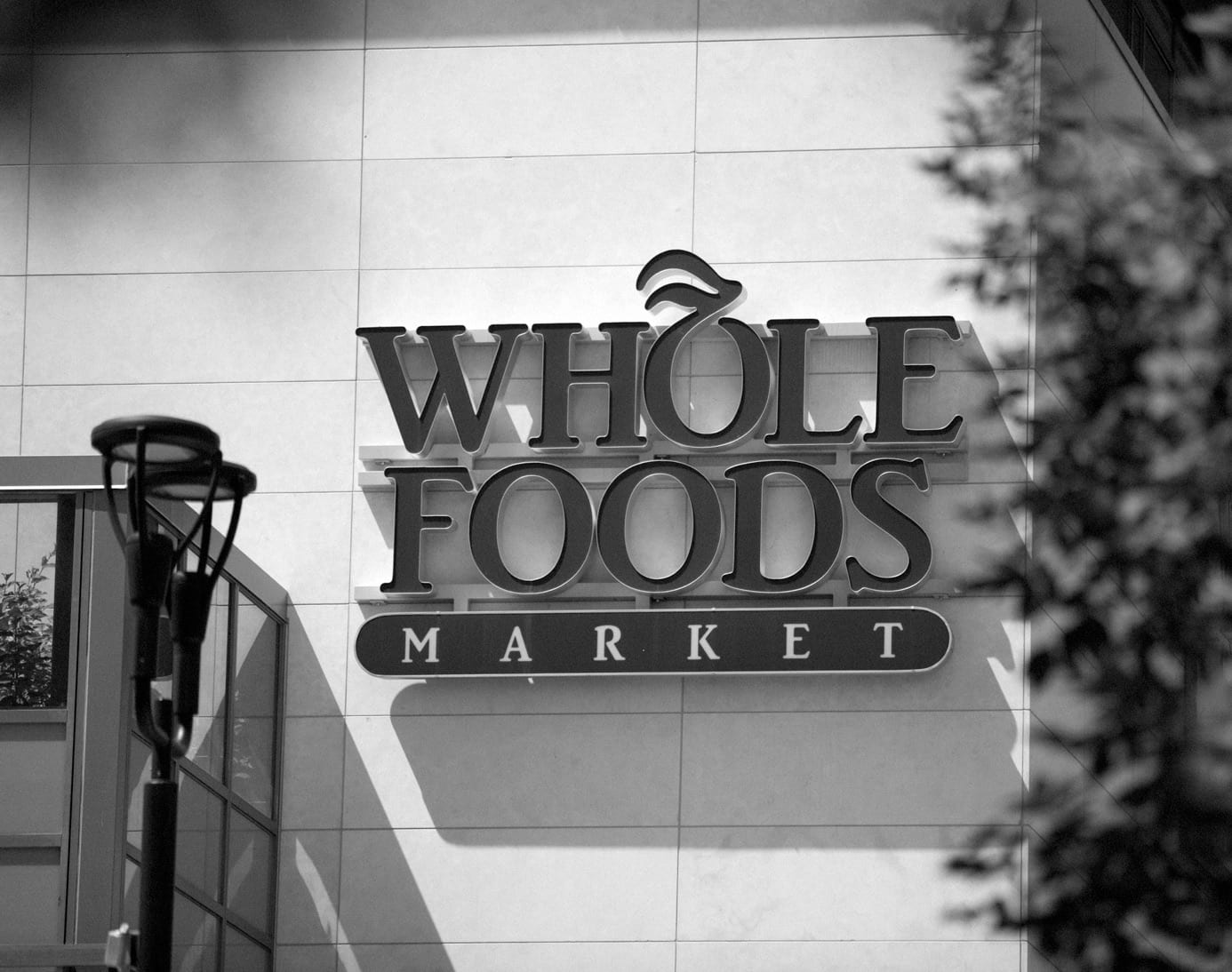 Signage for Whole Foods Market.